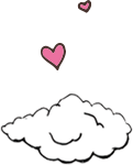 Cloud and hearts