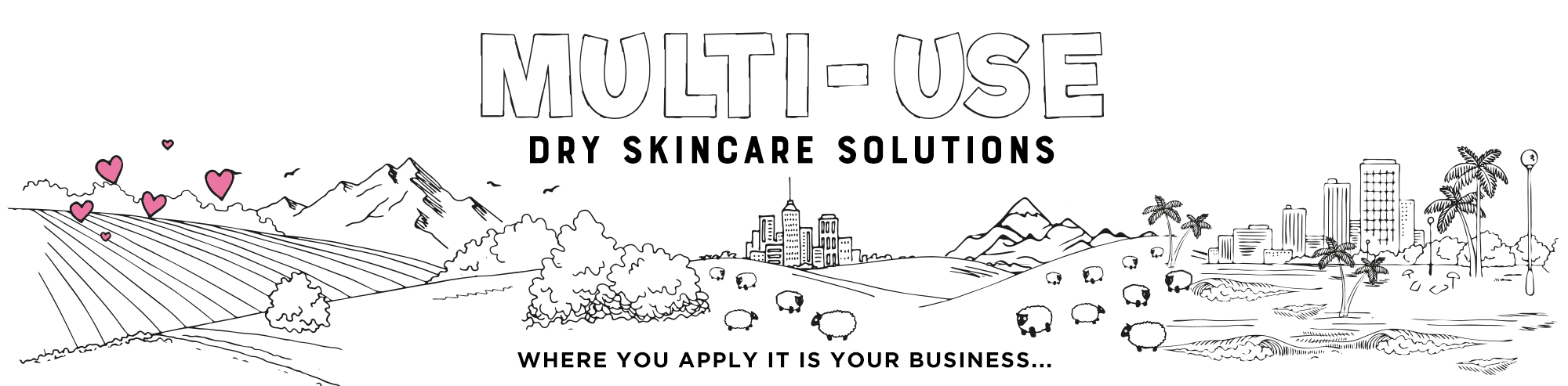 Multi-use dry skincare solutions